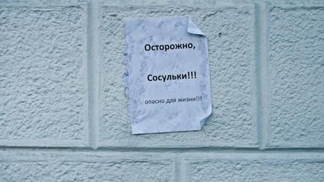 Прокуратура потребовала у коммунальщиков убрать сосульки в центре Воронежа