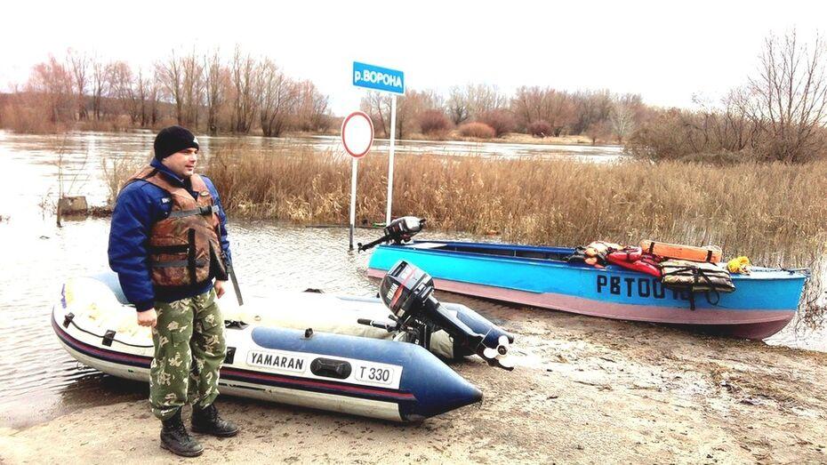 В Грибановском районе на реке Ворона открыли переправу