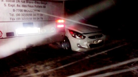 В Воронежской области Hyundai столкнулся с рейсовым автобусом из Украины