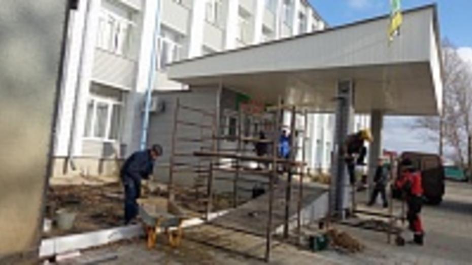 В Репьевской школе создают доступную среду для детей-инвалидов
