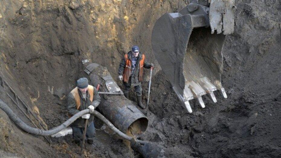 В Воронеже провалился участок левобережного канализационного коллектора