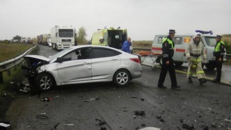 ДТП с 4 пострадавшими в Воронежской области спровоцировало на М4 пробку в 15 км