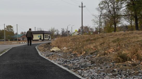 В кантемировском селе Михайловка впервые появился тротуар