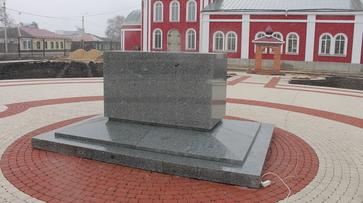 В Борисоглебске установили постамент для памятника Борису и Глебу