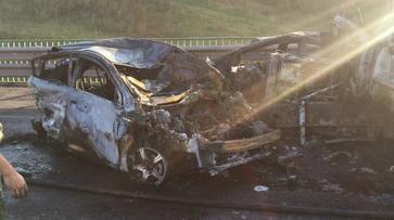 Момент массовой аварии на М4 в Воронежской области попал на видео
