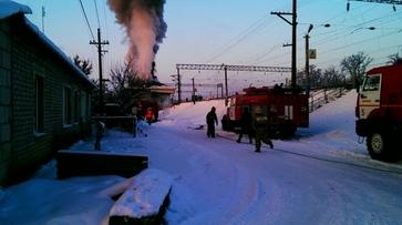 В Воронежской области загорелся железнодорожный вокзал на станции Тресвятская