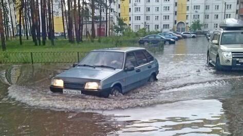Мэрия: к утру на улицах Воронежа воды уже не было