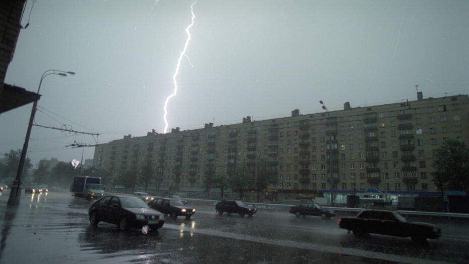 В Воронежскую область придет гроза с ливнем и порывистым ветром