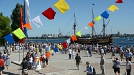 Воронежцы отпраздновали День ВМФ на Адмиралтейской площади