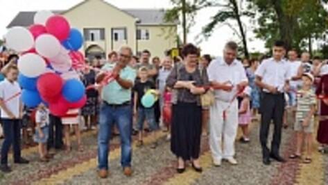 В лискинском селе открыт самый большой в районе сельский парк