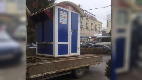 В Воронеже убрали замаскированные игровые автоматы у Дома быта