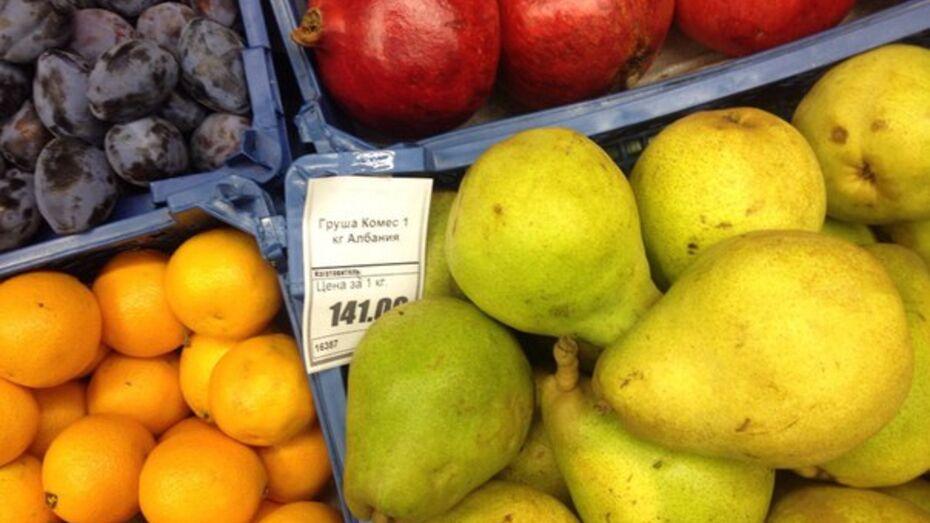 За январь продукты в Воронеже подорожали на 1,6%