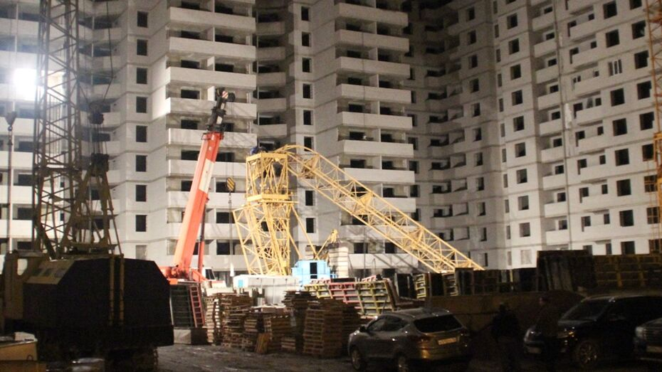В Коминтерновском районе Воронежа упал строительный кран