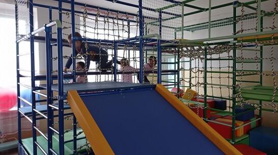 В подгоренском детсаду №2 оборудовали многофункциональный игровой комплекс
