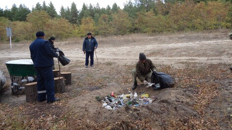 Богучарцы очистили от мусора около 5 га леса в рамках всероссийской акции «Живи, лес!»