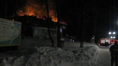 Спасатели опубликовали видео тушения пожара на базе отдыха под Воронежем