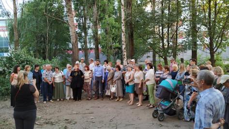 В Воронеже спасли от застройки сквер на улице Лизюкова