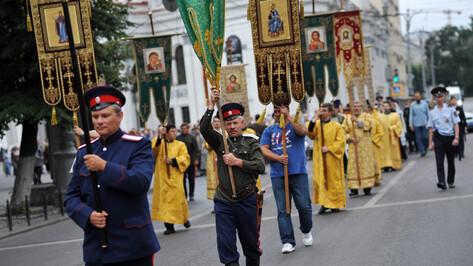 Крестный ход в честь 1025-летия Крещения Руси собрал больше тысячи православных воронежцев