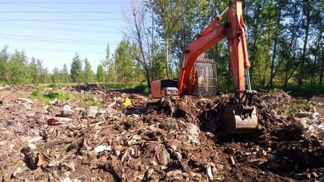 В новоусманском селе Бабяково через 10 лет ликвидировали несанкционированную свалку