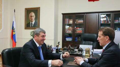 Министр регионального развития встретился с воронежским губернатором