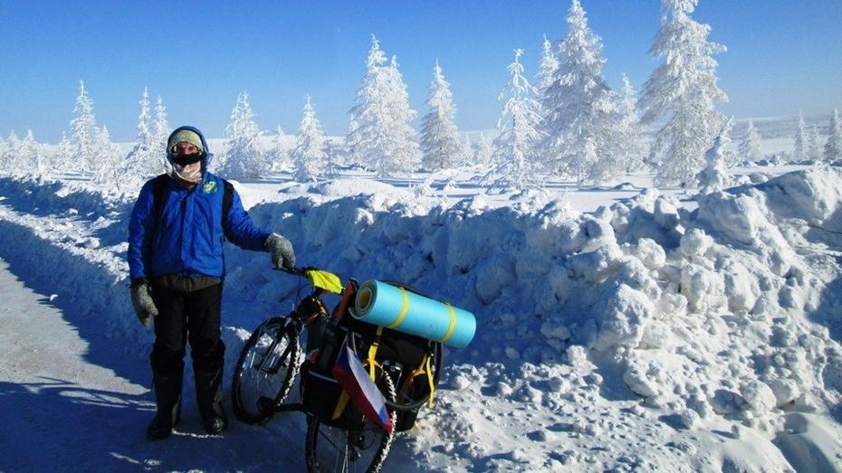 До Воронежа доберется проехавший 30 тыс км велосипедист