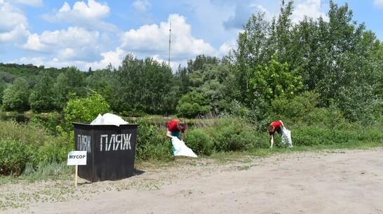Борисоглебцев попросили очистить от мусора берег реки Вороны