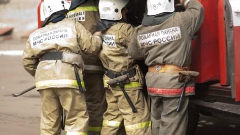 В воронежском микрорайоне Подгорное сгорела баня