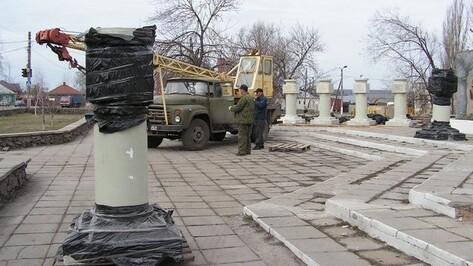 В Бутурлиновке реставрируют аллею Героев