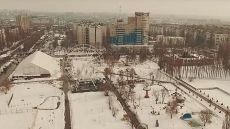 В Воронеже сняли на видео установку колеса обозрения