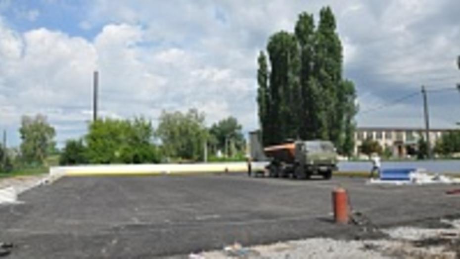 В Эртильском районе началось строительство еще одной спортивной площадки