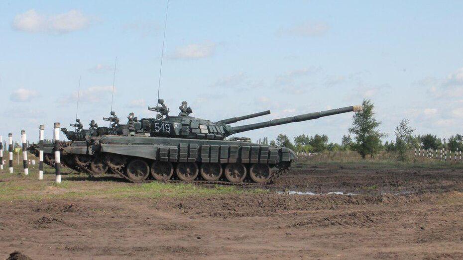 В Хохольском районе на полигоне Погоново отметили День танкиста