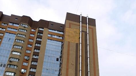 Соцсети: ветер сломал в Воронеже дерево и сорвал облицовку с 17-этажки