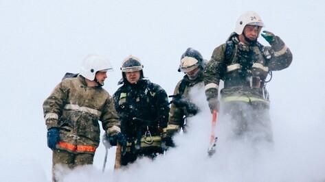 Воронежские спасатели опубликовали видео тушения пожара в цехе ЗАО «Холод»