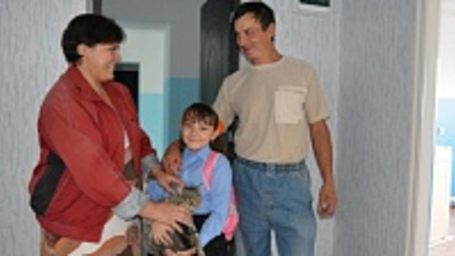 В Россоши 33 семьи переехали из аварийного жилья в новое