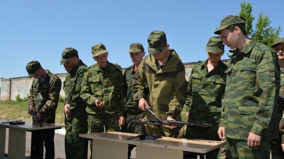 Десятиклассники нижнедевицких школ  «побывали в армии»