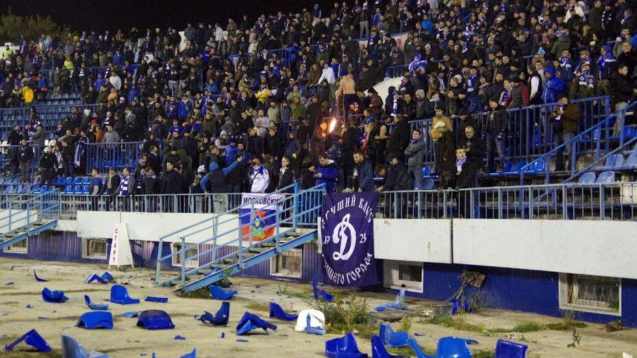 КДК закрыл фан-сектор стадиона в Воронеже после беспорядков на матче с «Динамо»