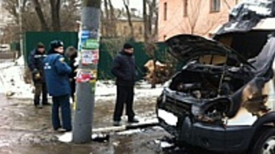 В Воронеже сгорела «Газель»
