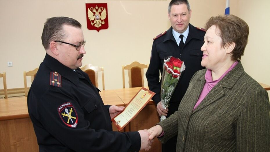 Полиция поблагодарила богучарскую журналистку