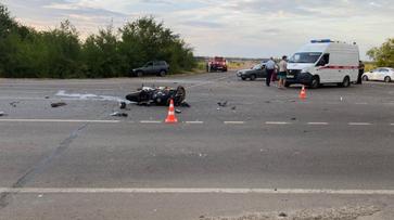 Мотоциклист погиб в ДТП с ВАЗом на трассе под Воронежем