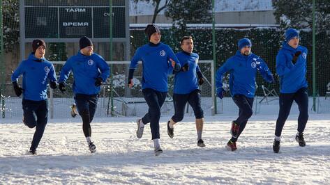 Воронежский «Факел» сыграл двусторонний матч на снегу в Сочи