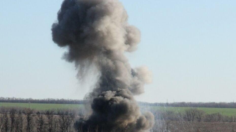 Немецкие снаряды со свастикой уничтожили в Богучарском районе