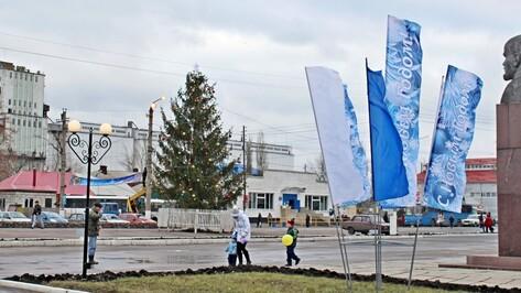 Главная елка Таловского района сменила место расположения