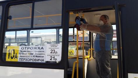 Мэрия показала, как в Воронеже проводят дезинфекцию маршруток