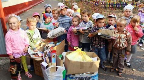 Таловские дошколята и их родители сдали более 300 кг макулатуры