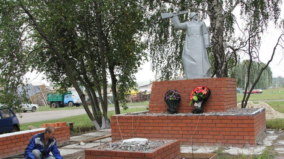 В новохоперском поселке впервые за 50 лет отремонтируют памятник погибшим в ВОВ землякам