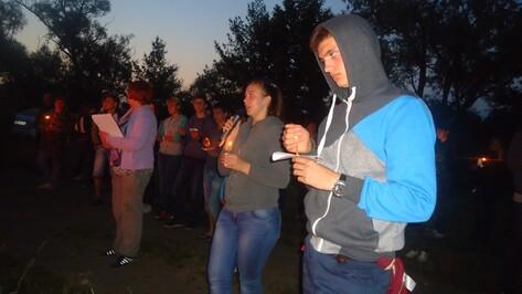 Лискинцы приняли участие в областной  патриотической акции «Венок памяти»