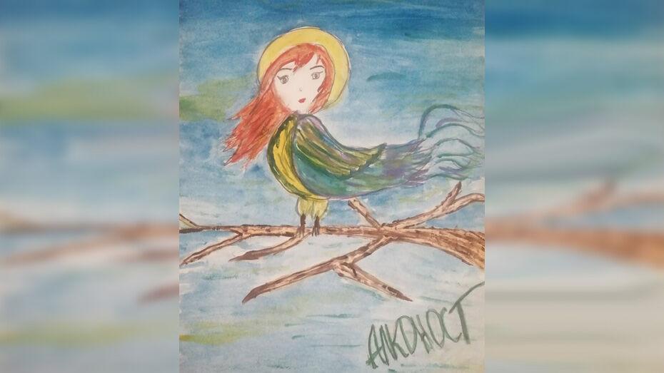 Грибановская школьница победила в областном конкурсе рисунков «Ожившие мифы»