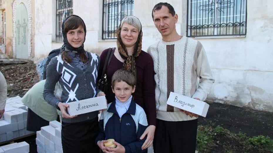 В Новоусманском районе стартовала благотворительная акция «Именной кирпич в стену колокольни»
