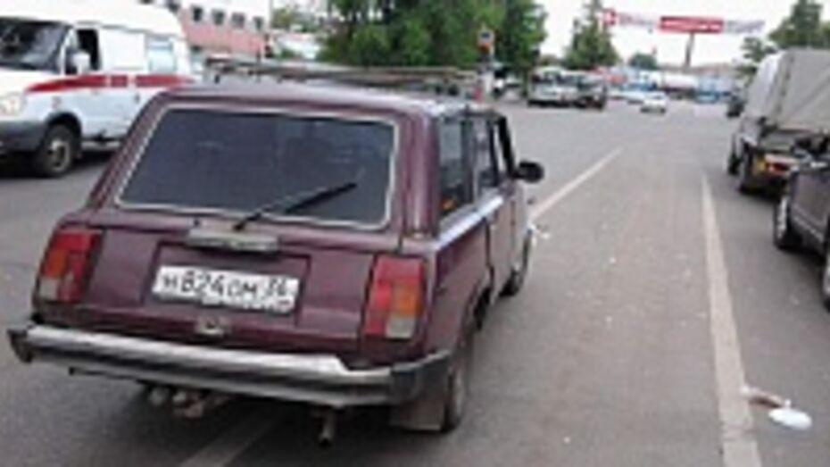 В Сети появилось ВИДЕО ДТП с пешеходом на проспекте Труда в Воронеже