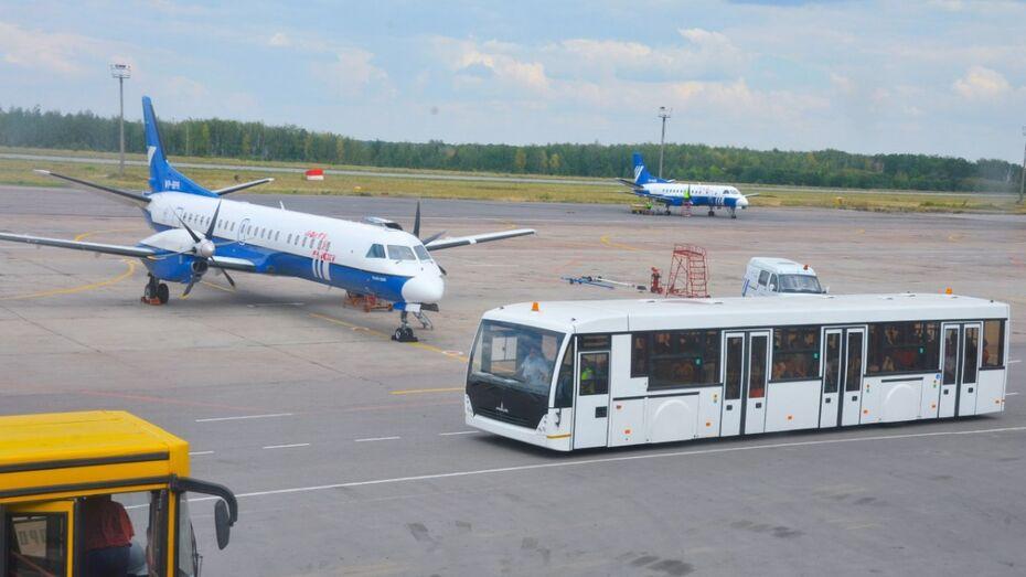 В Воронеже запустили новый автобусный маршрут до аэропорта